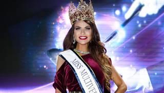 "Modele Diāna Kubasova kronēta par ""Miss Multiverse 2018"""