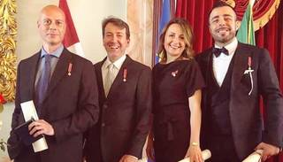 Roberto Meloni saņēmis prestižu ordeni