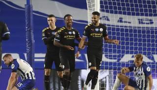 """Manchester City"" lupatu lēveros sasit ""Brighton & Hove"" un nodrošina vicečempionu titulu"