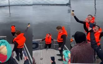 Video: Baiba Sipeniece-Gavare tur tautai doto solījumu un lec Daugavā