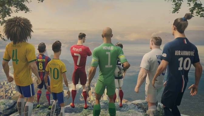 Īsfilma: kiborgi pret pasaules futbola zvaigznēm