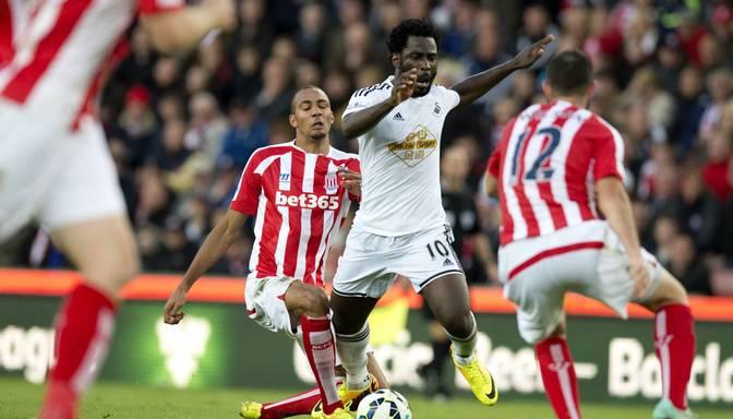 Anglijas premjerlīga: Stoke City ar 2:1 uzvar Swansea City