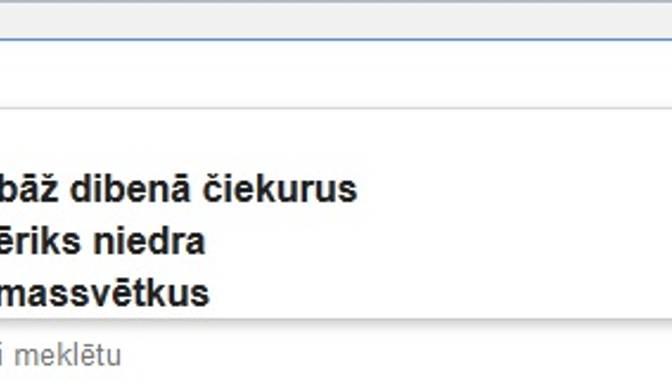 Ko latvieši meklē Google