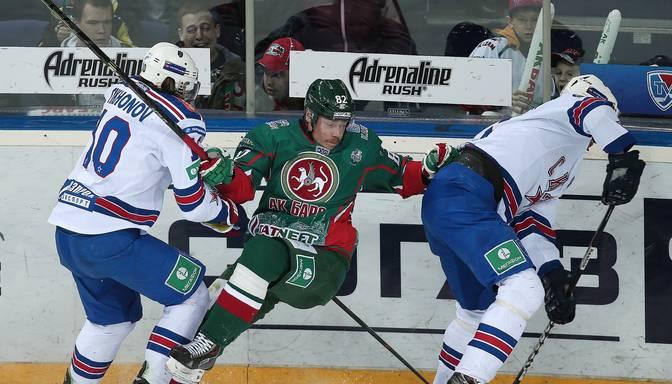 SKA hokejisti izcīna jau otro uzvaru Gagarina kausa finālā