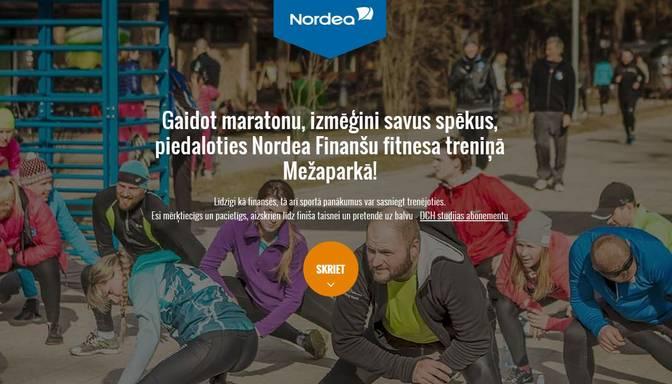 Nordea banka izveido maratona aplikāciju