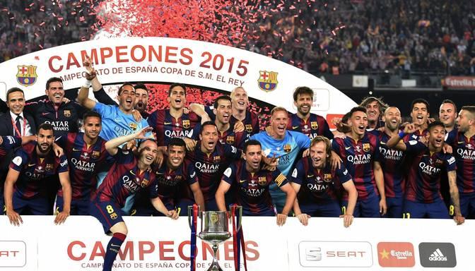 "Mesi ""piesmej"" pusi Athletic Bilbao komandas, Barcelona iegūst Spānijas kausu"