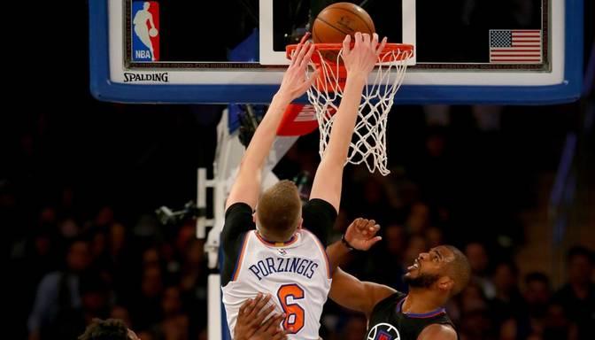 "VIDEO: Porziņgim teicams ""danks"" un 13 punkti pret Clippers"