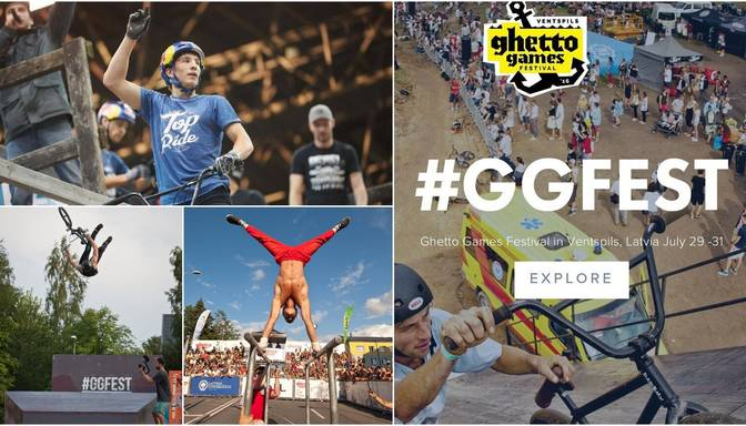 Iedvesmojošs video: Ghetto Games festivāls Ventspilī