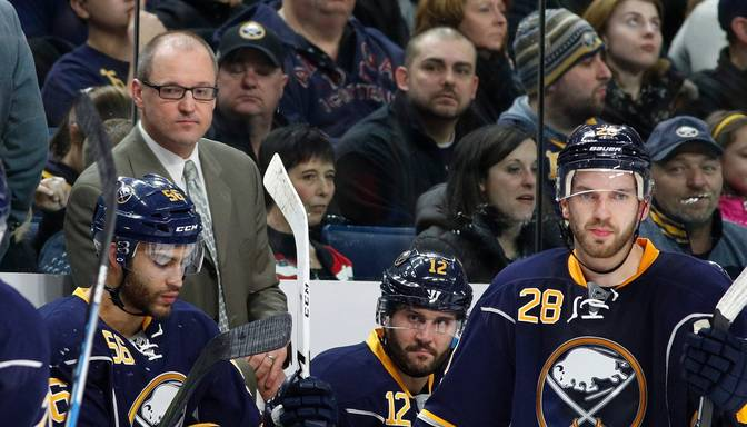 "Kāds būs Girgensona liktenis? ""Sabres"" komanda atlaiž galveno treneri Bailsmu"