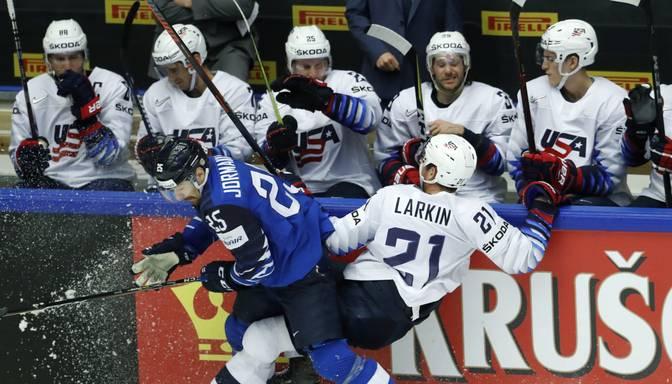 Somijas hokejisti sakauj ASV un nodrošina pirmo vietu Herningas apakšgrupā
