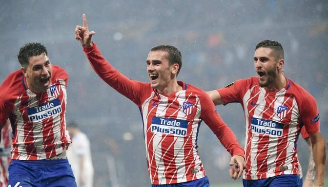 "Grīzmana dublis nodrošina Madrides ""Atletico"" uzvaru UEFA Eiropas līgā"
