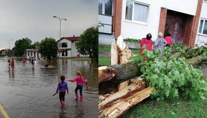Nolūzuši koki, traucēta elektroapgāde, bloķēti ceļi – Kurzemi šķērsojis negaiss