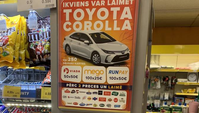Izlikts paziņojums, ka veikalā nepieņem 100, 200 un 500 eiro banknotes!