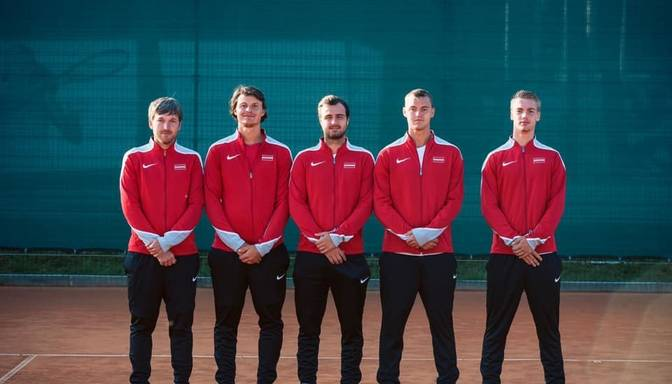 Latvijas tenisisti Deivisa kausa apakšgrupu turnīru noslēdz ar zaudējumu Igaunijai