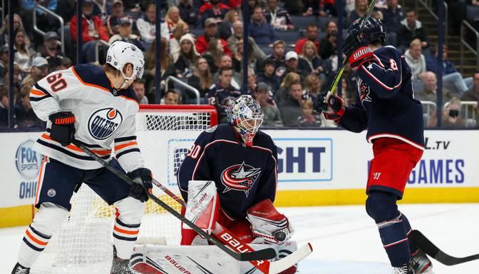"Merzļikins nomaina Korpisalo un atvaira visus ""Oilers"" hokejistu metienus"