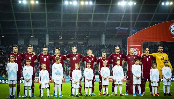 Latvijas futbola izlase ar maču pret Austriju noslēdz Eiropas čempionāta kvalifikācijas ciklu