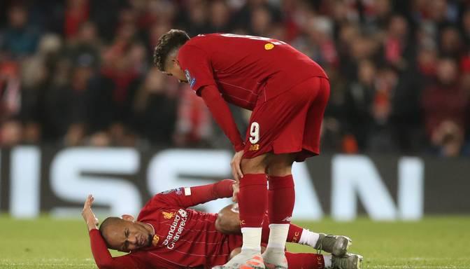 """""""Liverpool"""" vidējā līnijā trieciens – Fabinju traumas dēļ šogad laukumā vairs neatgriezīsies"""