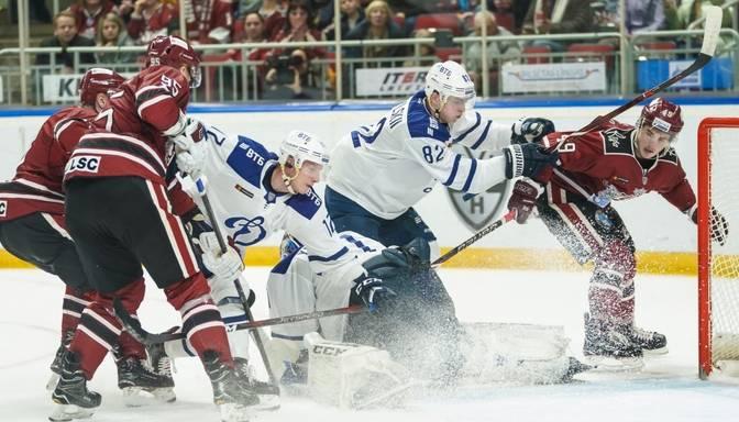 "TEKSTA VIDEO TIEŠRAIDE: KHL. Rīgas ""Dinamo"" – Maskavas ""Dynamo"""
