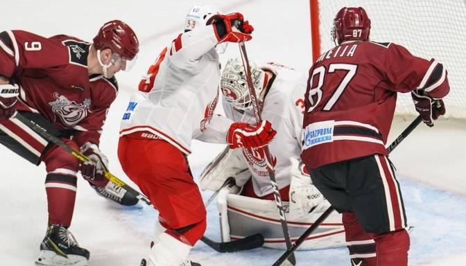 """TEKSTA VIDEO TIEŠRAIDE: KHL. Rīgas """"Dinamo"""" – """"Vityaz"""""""