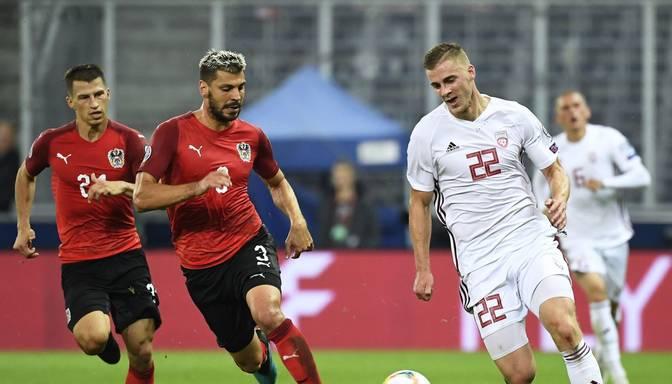 TIEŠRAIDE: EČ kvalifikācija futbolā. LATVIJA – AUSTRIJA