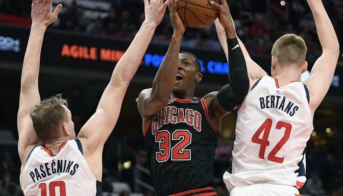 """Latvijai vēsturiskā NBA naktī Pasečņiks debitē, Dāvis Bertāns pieber pilnu grozu ar trīnīšiem, """"Wizards"""" dramatiskā galotnē zaudē """"Bulls"""""""
