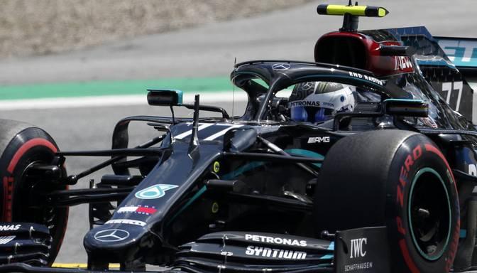 """Botass un Verstapens ātrākie Beļģijas """"Grand Prix"""" pirmajās treniņbraucienu sesijās"""