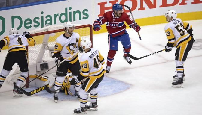 """Bļugera """"Penguins"""" sērijas ceturtajā spēlē zaudē Monreālas """"Canadiens"""", Pingvīniem sezona beigusies"""