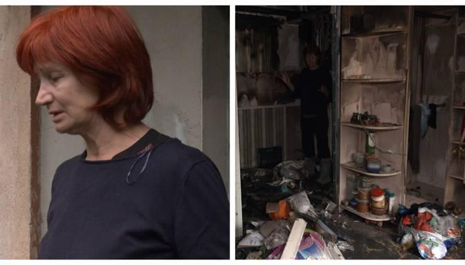 Olga bija darbā, kad saņēma šausminošu ziņu: deg dzīvoklis, kurā atrodas viņas meita