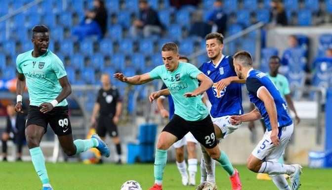"""""""Valmiera"""" neiztur """"Lech"""" spiedienu un apstājas UEFA Eiropas līgas kvalifikācijas pirmajā kārtā"""