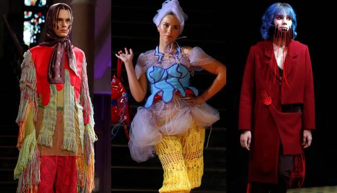 Krāšņi foto: Mākslas akadēmijas daudzsološākie studenti pārsteidz ikgadējā modes skatē