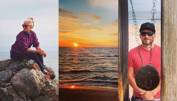 Foto: aktieru pāris Ērika Eglija un Gints Grāvelis apceļo dzimto Kurzemi