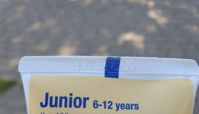 Informācija uz bērniem paredzētas zobu pastas atšķiras!