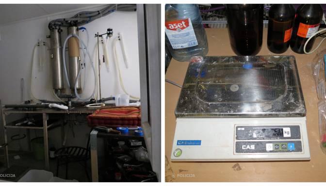Krimuldā atrasta metadona laboratorija un izņemtas apreibinošas vielas 1,5 miljonu eiro vērtībā
