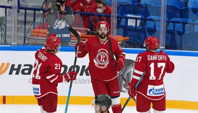 """Daugaviņam 87,5% uzvarētu iemetienu """"Vityaz"""" uzvarā pār Minskas """"Dinamo"""""""