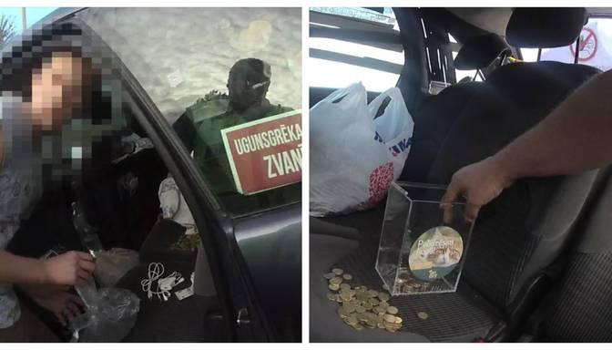 Apsekojot pamestu auto, policisti palīdz atšķetināt iepriekš notikušu noziegumu