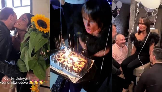 Foto: Aleksandra Kurusova nosvinējusi 35. dzimšanas dienu