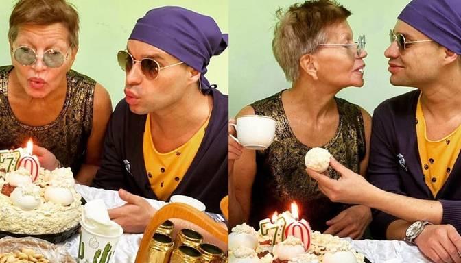 Iekārojamais Gogens publisko kadrus no sievas pensionāres 70 gadu jubilejas