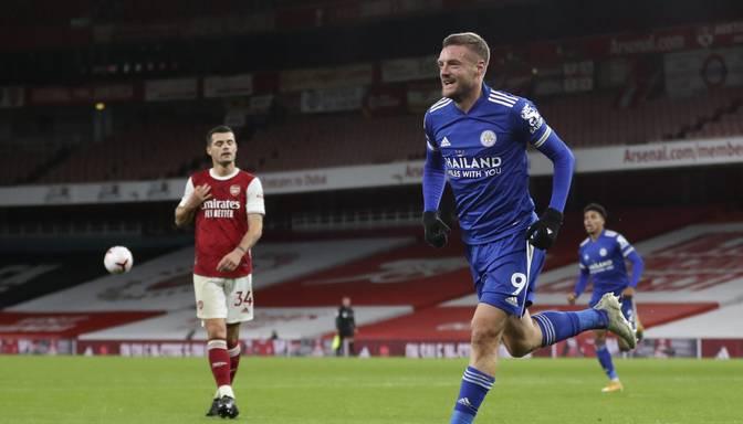 """""""Leicester City"""" pirmo reizi 47 gadu laikā Londonā uzvar """"Arsenal"""""""