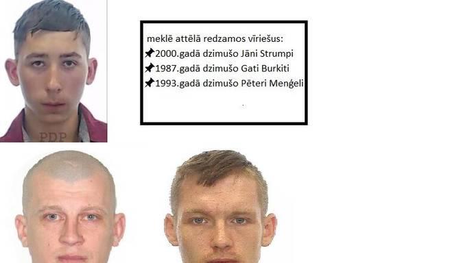 Valsts policija meklē attēlā redzamos vīriešus!