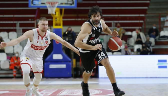 Latvijas basketbolistiem mainīgas sekmes Itālijas A sērijas spēlēs
