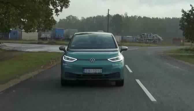 """Šerps aparāts ar labu komfortu!"" ""Zebra"" testē jauno elektroauto ""Volkswagen ID.3"""