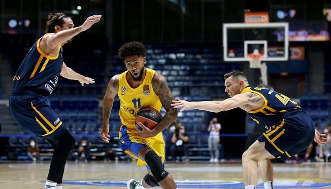 """Timmas un Bertāna """"Khimki"""" Eirolīgas spēles pamatlaikā izlaiž uzvaru un pagarinājumā zaudē """"Maccabi"""""""