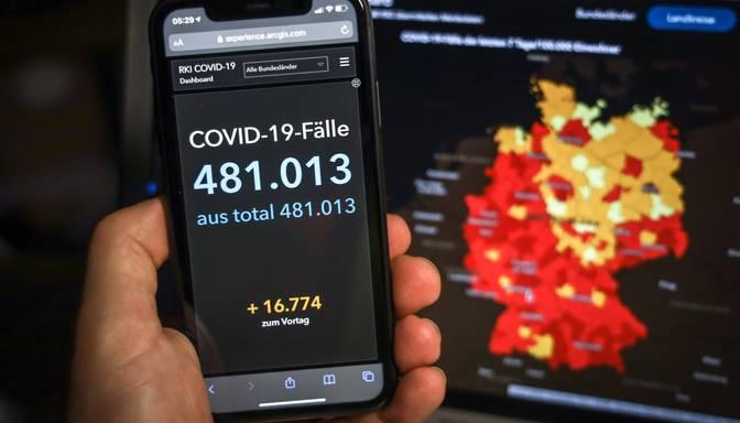 Vācijā reģistrēts rekordliels jaunu Covid-19 gadījumu skaits