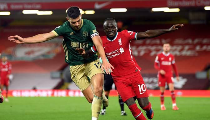 """""""Liverpool"""" atspēlējas pēc ielaistas """"pendeles"""" un uzvar """"Sheffield United"""""""