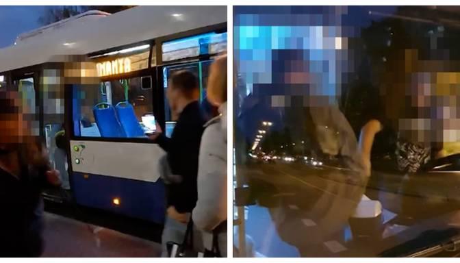 Kautiņš autobusā: agresīvs pasažieris Rīgā banāla iemesla dēļ uzbrūk šoferim