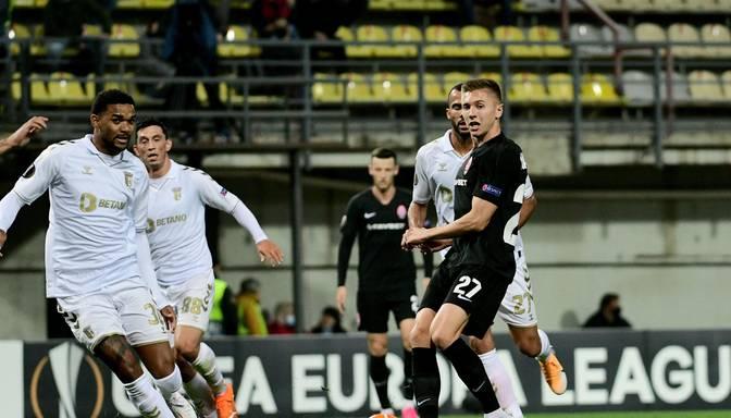 """""""Zorja"""" UEFA Eiropas līgas spēlē bez Cigaņika laukumā zaudē """"Braga"""""""