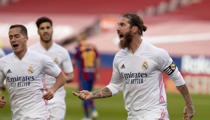"""Madrides """"Real"""" """"El clasico"""" uzvar """"Barcelona"""" futbolistus"""