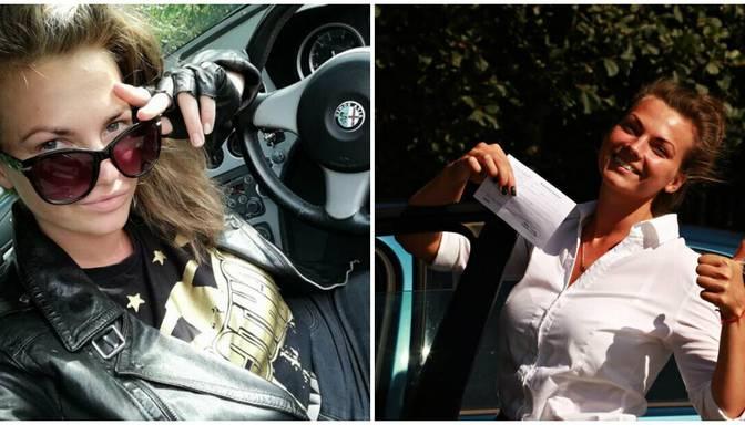 Seksīgā šovu zvaigzne Violeta Dānijā tikusi pie autovadītāja apliecības