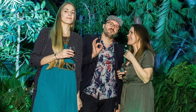 Foto: ar saviesīgu burziņu Palmu mājā Andris Buiķis prezentē soloalbumu