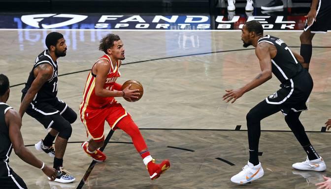 """Ar Duranta un Ērvinga 46 punktiem nepietiek – """"Nets"""" zaudē Atlantas """"Hawks"""""""